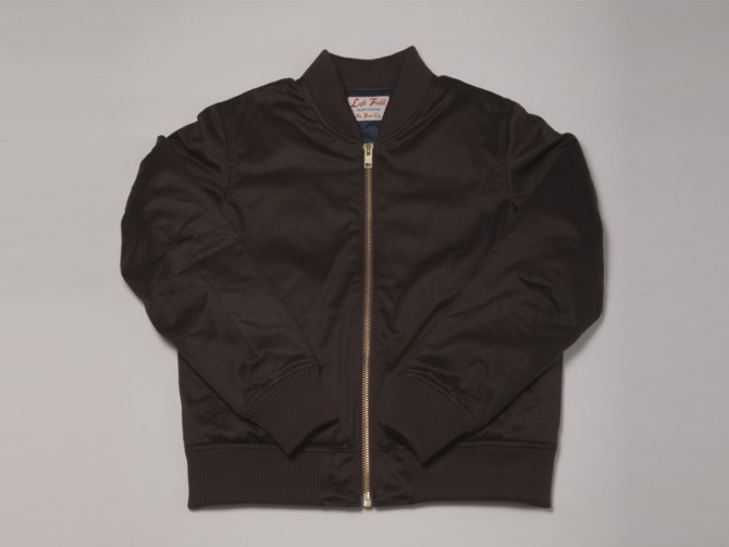 En soldes | Left Field NYC – Chocolate Brown Twill Flight Jacket