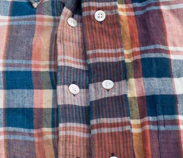 Leith plaid Madras shirt