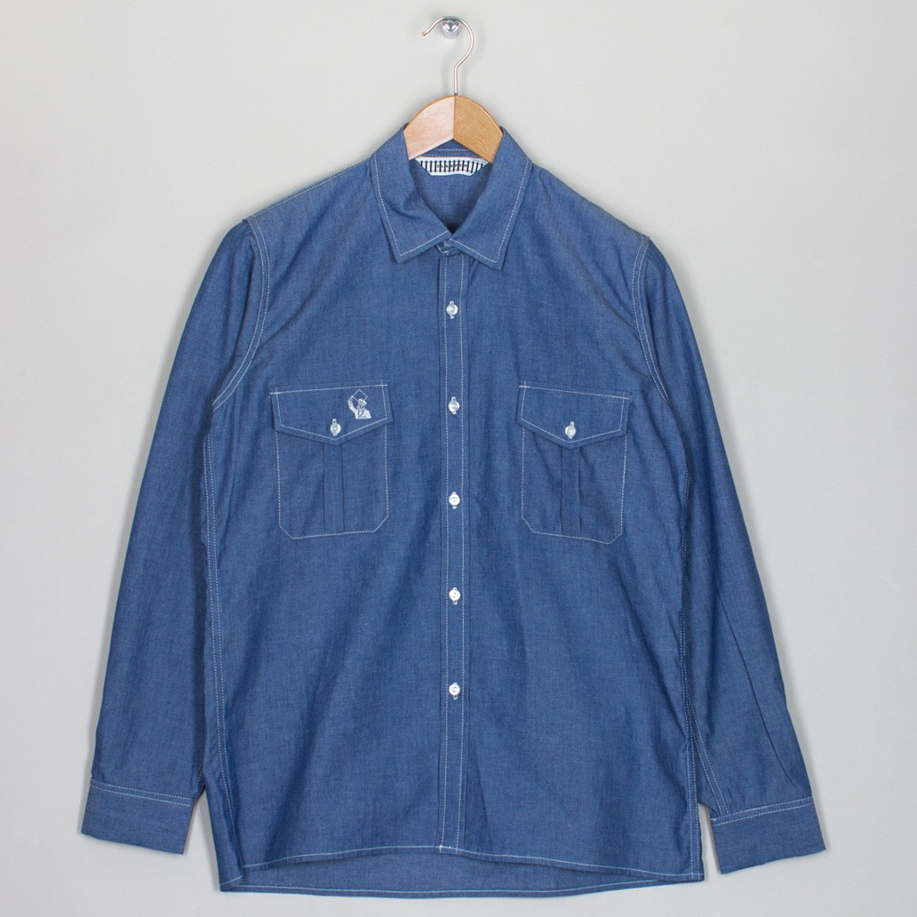 Sleeper chambray shirt blue